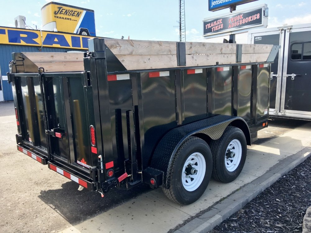 "Canada Trailers 6.5' x 12' 7 Ton Dump Trailer with 48"" Sides"