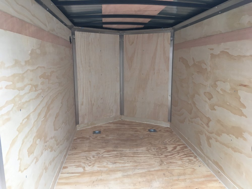 Jensen Expressline 5x8 V-Nose Ramp Door Garageable