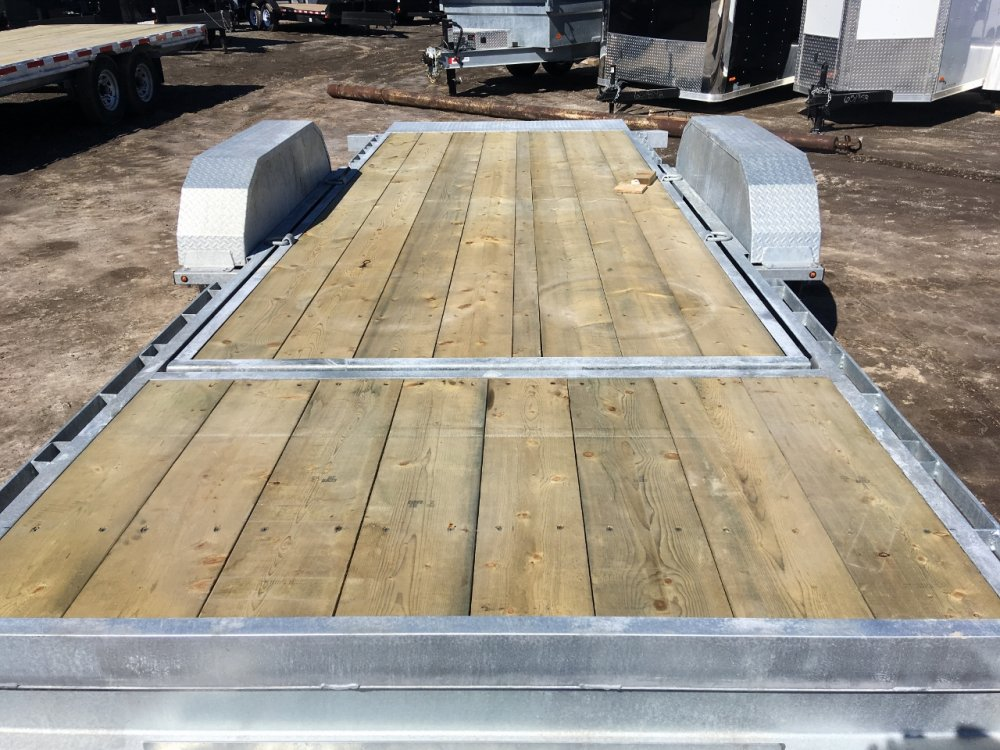 K-Trail 20' Galvanized Gravity Tilt Equipment Float 7 Ton