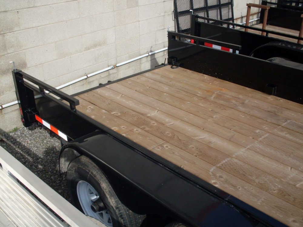 Canada Trailers 7x16 Landscape Trailer Side Ramp  No Rear Ramps 5 Ton