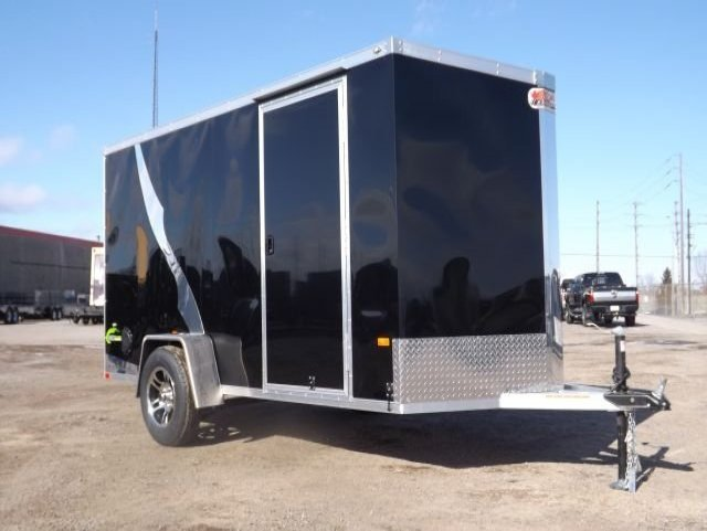 Black  All  Aluminum  Single  Axle  Enclosed  Cargo  Trailer