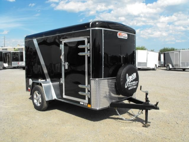 Black  Single  Axle  Enclosed  Cargo  Trailer