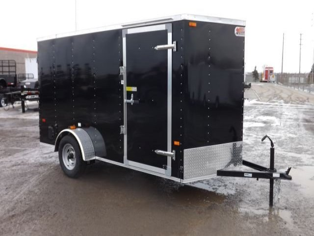 Black  Standard  Single  Axle  Enclosed  Cargo  Trailer
