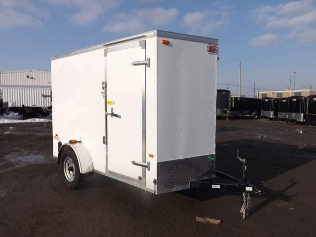White  Standard  Single  Axle  Enclosed  Cargo  Trailer