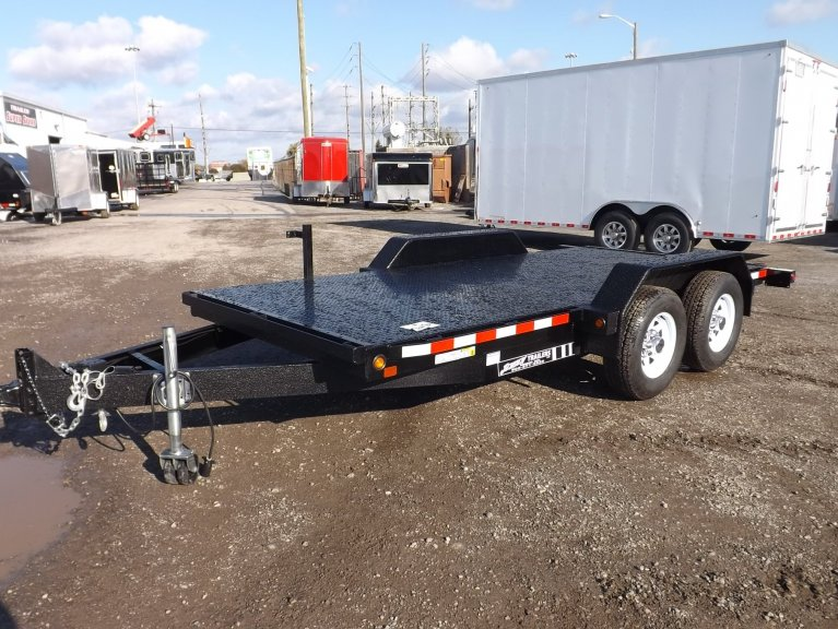Equipment trailer steel floor