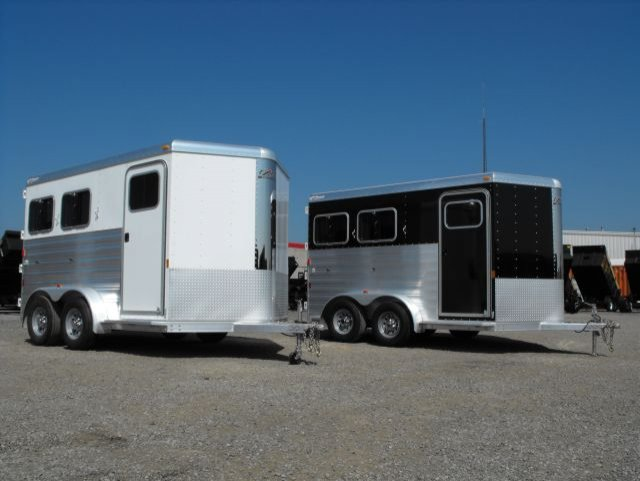 exiss 2 horse trailer slant load