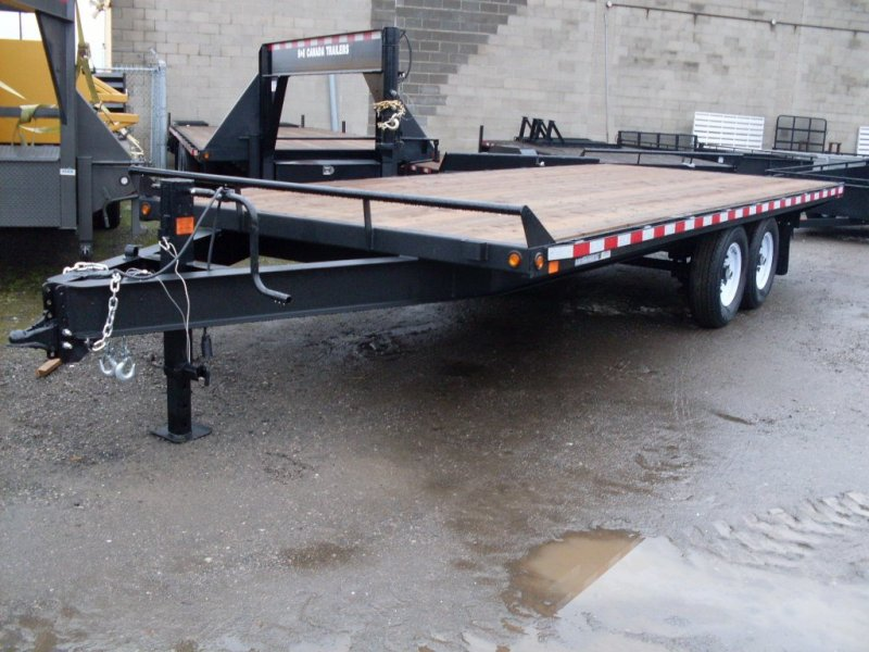 Canada Trailers 20' Straight Deck Deckover Equipment Float 7 Ton