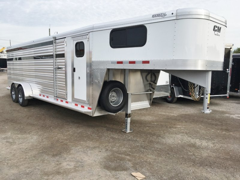 CM Trailers Aluminum 24' Stock Combo Trailer